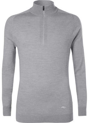 Kjus Golf Kulm Slim-Fit Merino Wool Half-Zip Golf Sweater