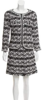 Chanel Tweed Knee-Length Skirt Suit