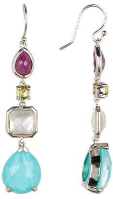 Ippolita Sterling Silver Rock Candy Bezel Set 4-Stone Drop Earrings