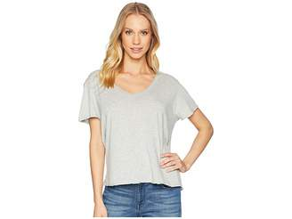 Michael Stars Ultra Jersey Cropped V-Neck Tee