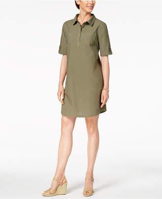 Karen Scott Petite Cotton Shirtdress