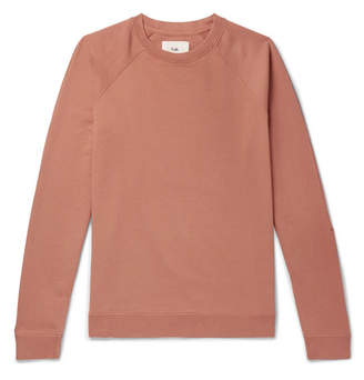 Folk Rivet Loopback Cotton-Jersey Sweatshirt - Men - Orange