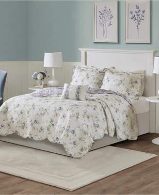 Jla Home Madison Park Lydia Full/Queen 4-Piece Cotton Reversible Coverlet Set Bedding
