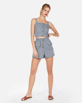 Express High Waisted Button Front Shorts
