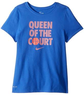 Nike Dry Queen of Court Basketball Tee Girl's T Shirt