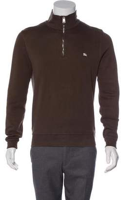Burberry Knit Half-Zip Sweater