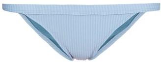 Made By Dawn - Traveler Ribbed Bikini Briefs - Womens - Light Blue