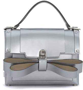 Niels Peeraer Ribbon Silver Leather Backpack