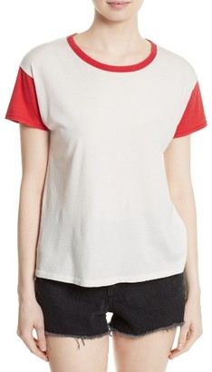 Women's Rag & Bone/jean Colorblock Vintage Cotton Tee $95 thestylecure.com
