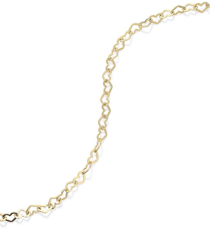 Giani Bernini 24k Gold over Sterling Silver Anklet, Heart Chain Anklet