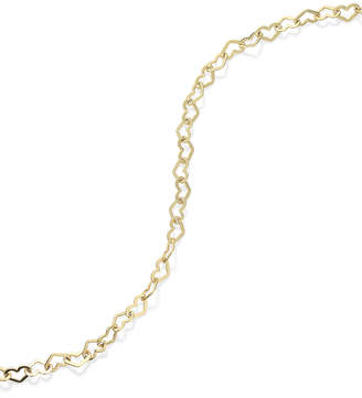 Giani Bernini 18K Gold over Sterling Silver Heart Chain Ankle Bracelet, also available in Sterling Silver