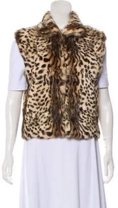 Adrienne Landau Fur Printed Vest