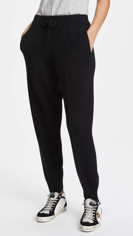 Drawstring Cashmere Jogger Pants