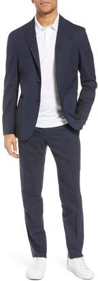 Boglioli Trim Fit Stretch Solid Wool Suit
