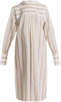 Marni Notch-lapel striped cotton shirtdress