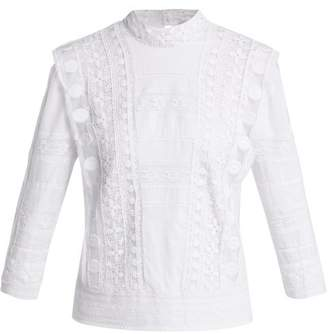 Sea Ila Crochet Lace Embroidered Cotton Blouse - Womens - Cream
