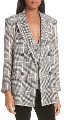L'Agence Taryn Glen Plaid Silk Blazer