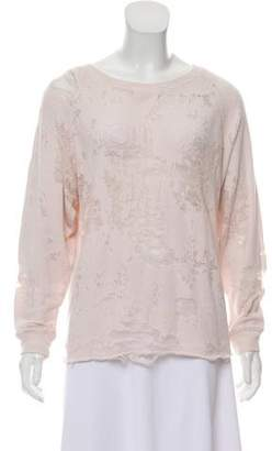 IRO Distressed Knit Sweatshirt