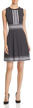 MICHAEL Michael Kors Simple Dot Fit-and-Flare Dress