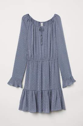 H&M Flounced Dress - Blue