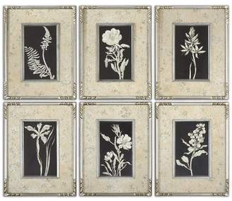 Uttermost Glowing Florals by Grace Feyock 6 Piece Framed Graphic Art Set