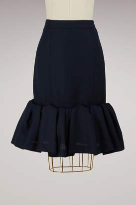 Jacquemus Wool skirt with