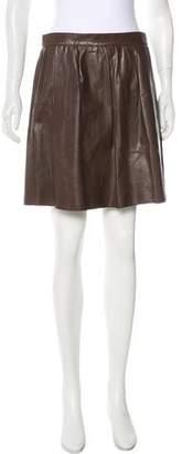 Vince Mini Leather Skirt