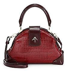 Atelier Manu Women's Demi Two-Tone Croco-Embossed Leather Bag