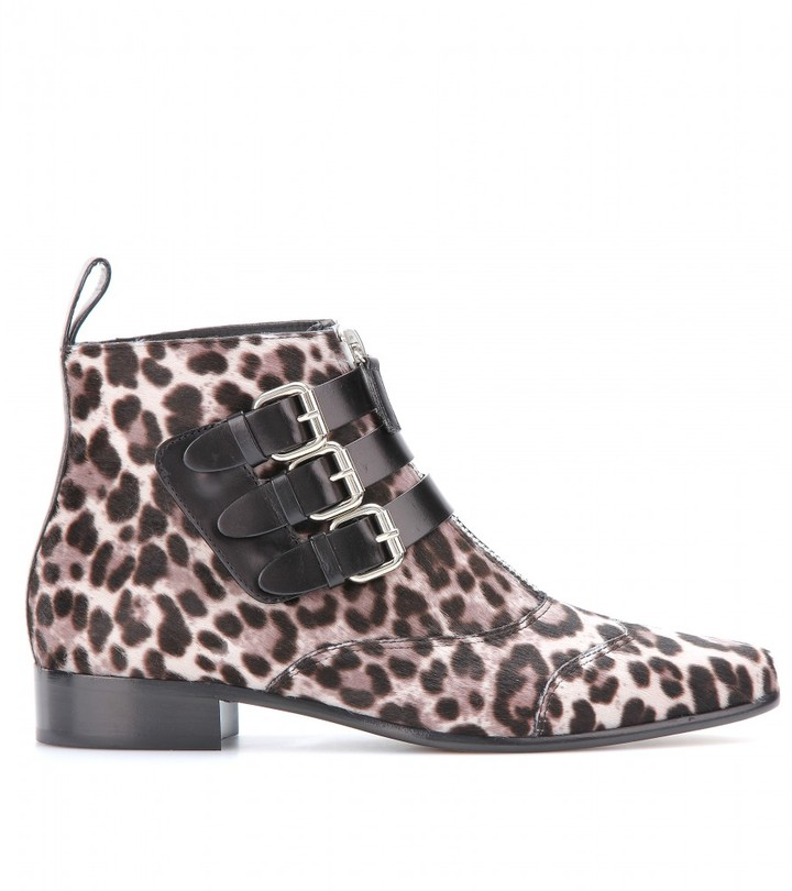 Tabitha Simmons Early calf hair ankle boots
