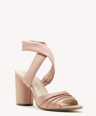 Sole Society Selbie Satin Block Heel Sandal
