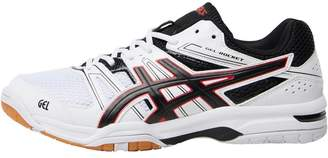 Mens Gel Rocket 7 Indoor Court Shoes White/Black/Vermillion