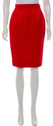 Saint Laurent Knee-Length Pencil Skirt