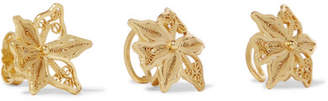 Mallarino Oriana Set Of Three Gold Vermeil Ear Cuffs And Earring