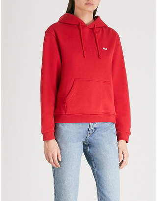 Tommy Jeans Logo-embroidered cotton-blend hoody