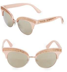 Dolce & Gabbana 50MM Sequin Trim Cateye Sunglasses