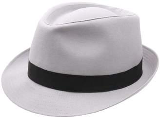 Classic Italy Trilby Trilby Hat Size 56 Cm Gray-black