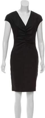 Narciso Rodriguez Virgin Wool-Blend Mini Dress
