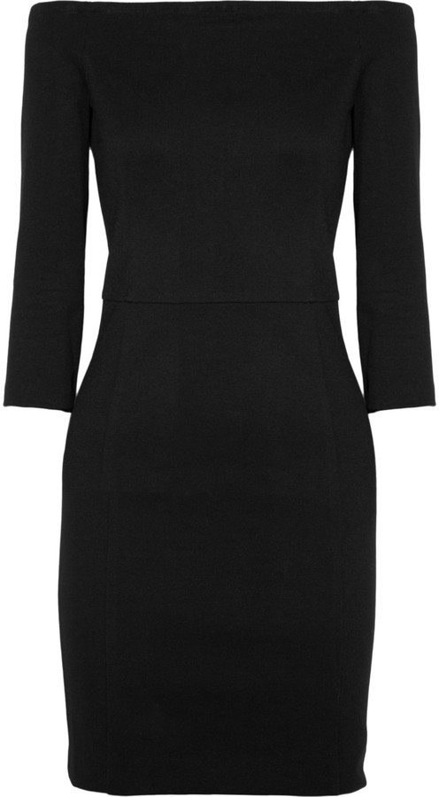 DKNY Off-the-shoulder jersey-twill dress