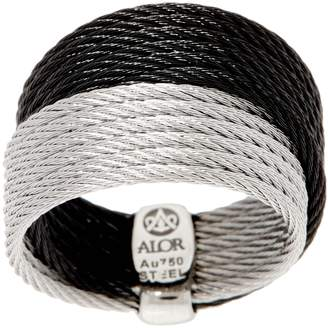 Alor Cable Stainless Steel Two-Tone Double Band Ring