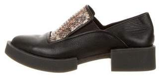 H Williams Pointed-Toe Platform Loafers