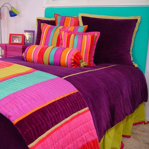 Ali Velvet Stripe Bedding