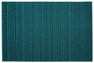 Design Within Reach Chilewich Skinny Stripe Shag Floor Mat, Turquoise