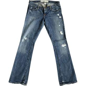 Abercrombie & Fitch Blue Cotton Jeans for Women