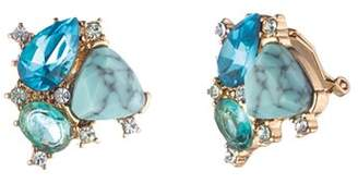 Carolee Cluster Stud Clip-On Earrings