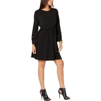MICHAEL Michael Kors Womens Lace Trim Mini Cocktail Dress M