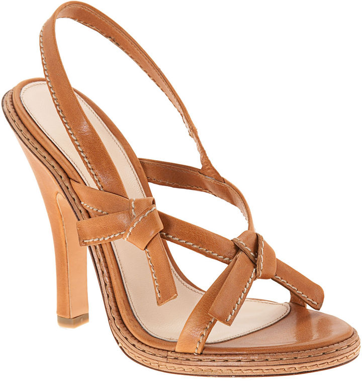 PRADA Knotted Sandal - Natural
