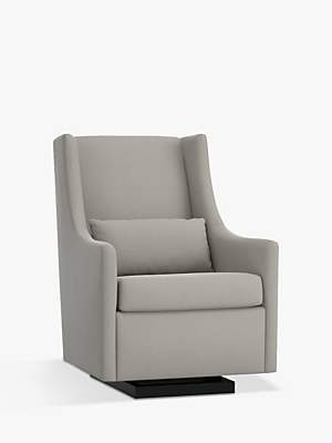 At John Lewis And Partners Pottery Barn Kids Graham Performance Basketweave Glider Nursing Chair Silver