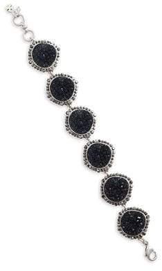 Lucky Brand Modern Opulence Silvertone Pave Druzy Bracelet