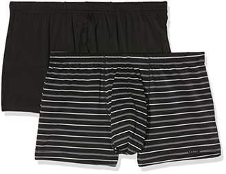 Esprit Men's Anton 2 2 Shorts Boxer (Black 001), (Size: 6) (Pack of 2)