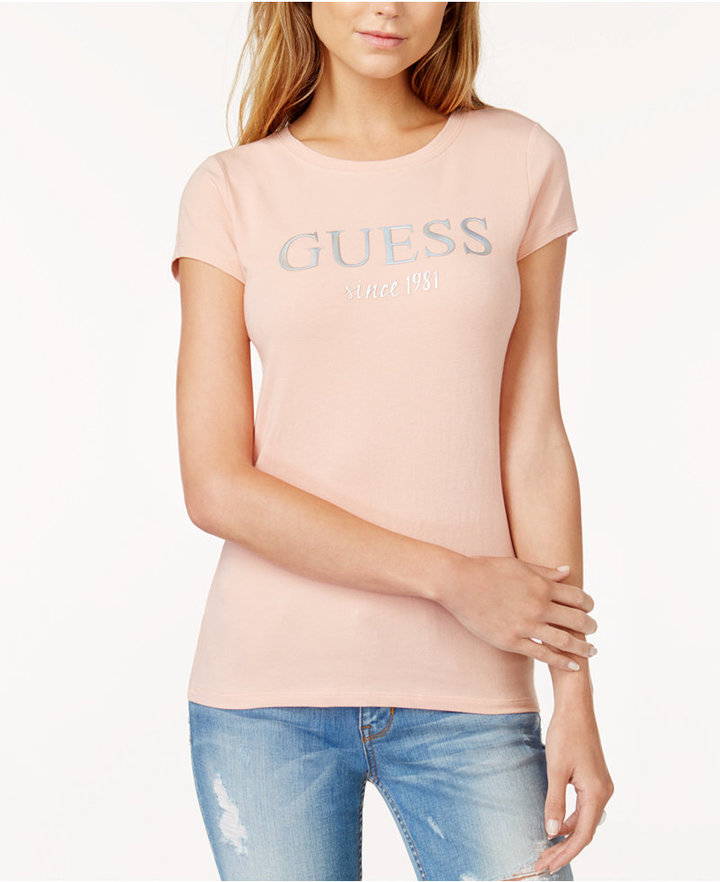 Guess Embossed Graphic T-Shirt